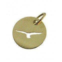 Médaille Silhouette mouette simple