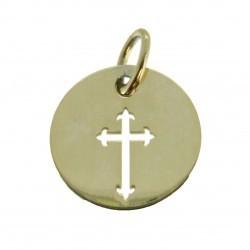 Médaille Silhouette croix simple
