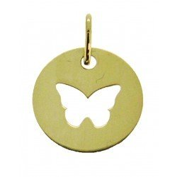 Médaille Silhouette papillon simple
