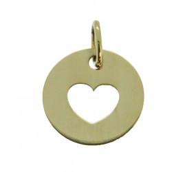 Médaille Silhouette coeur simple
