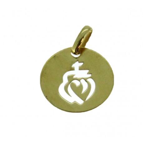 Médaille croix ronde ronde