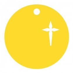 Médaille croix ronde