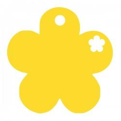Médaille petite fleur repercée avec un coeur