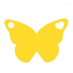 Médaille papillon repercé avec un coeur