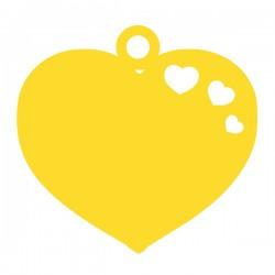 Médaille 3 petits cœurs