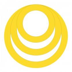 Médaille triple anneaux diam 16