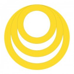 Médaille triple anneaux diam 22
