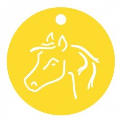 Médaille tête de cheval