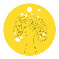 Médaille arbre de vie ronde coeur