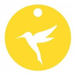 Médaille Silhouette colibri