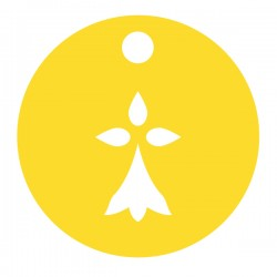Médaille Silhouette hermine diamètre 12,8mm