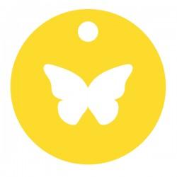 Médaille Silhouette papillon diamètre 12,8mm