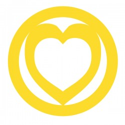 Médaille Coeur repercé dans cercle diam 20mm