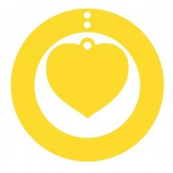 Médaille Coeur suspendu dans cercle diam. 24,5mm