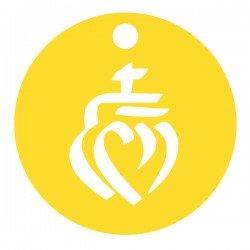 Médaille ronde cœur vendéen repercer 12,8mm