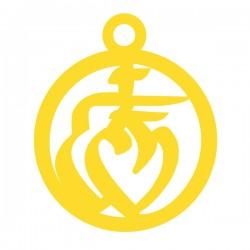Médaille ronde cœur vendéen avec entourage 15mm