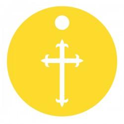 Médaille Silhouette croix diamètre 12,8mm