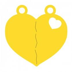 Médaille cœur sécable repercé 1 cœur 14,95mmx5mm