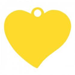 Médaille cœur penché 17,6mm x 16mm