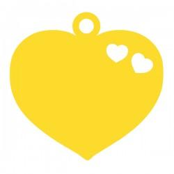 Médaille cœur repercé de 2 petits cœurs 14,95mm x 15mm