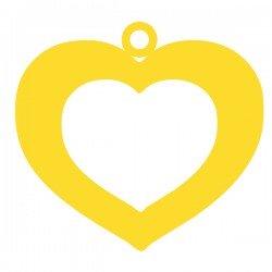 Médaille cœur moyen evidé 17mmx15,5mm