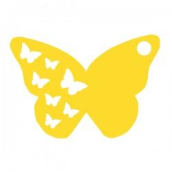 Médaille papillon repercé papillons 16 x 11mm