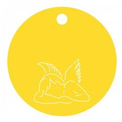 Médaille ange enfant ronde
