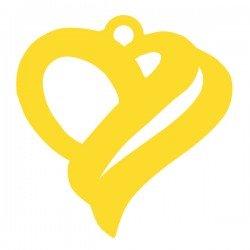 Médaille Coeur prénom de biais