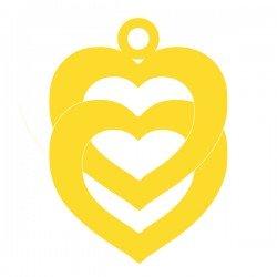 Médaille Double coeur entrelacés