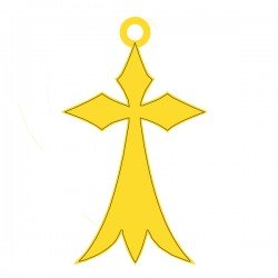 Médaille croix hermine 20mmx13mm