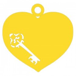 Médaille Coeur repercée clé