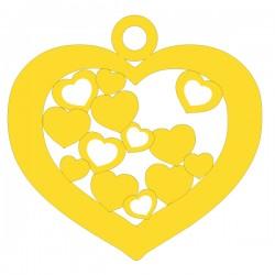 Médaille Coeur repercée cœurs