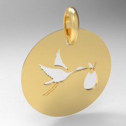 Médaille cigogne