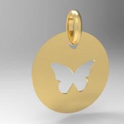 Médaille Silhouette papillon