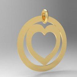 Médaille Coeur repercé dans cercle