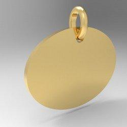 Médaille ovale couchée