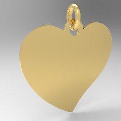 Médaille cœur penché