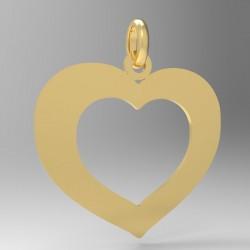 Médaille grand cœur evidé