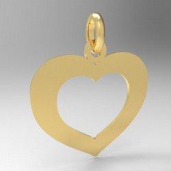 Médaille cœur moyen evidé