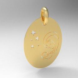 Médaille vierge à l'enfant et étoiles