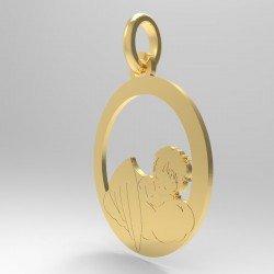 Médaille Ange Endormi