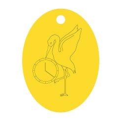Médaille Cigogne et Heure de Naissance