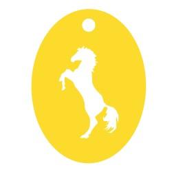 Médaille cheval cabré repercé