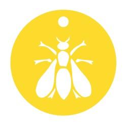 Médaille abeille repercée