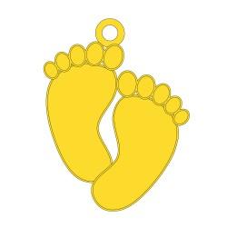 Médaille pieds bébé