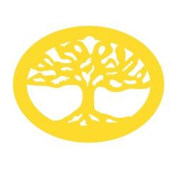 Médaille arbre de vie oval ajouré