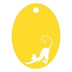 Médaille ovale Chat repercé