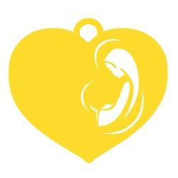 Médaille Vierge à l'enfant dans un coeur repercée