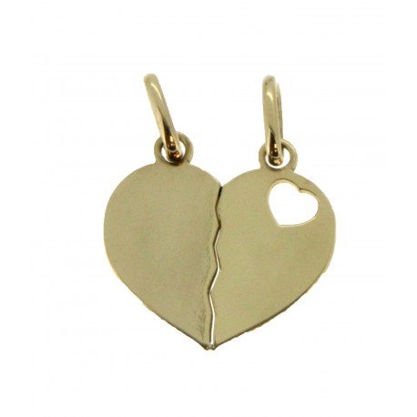 Médaille sécable 1 petit cœur simple