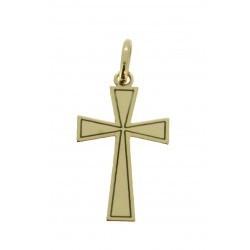 Médaille croix travaillée simple